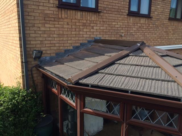 Pictures of completed tiled roof after work completed